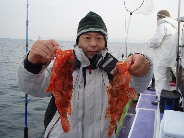 2009.1.18(日) オニカサゴ35cmと29cm
