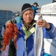 2009.1.17(土) 竿頭・10匹とオニカサゴ2匹・斉藤さん!