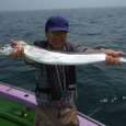 2008.7.5   98cmを釣った小高さん!