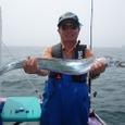 2008.7.5   100cmを釣った太田さん!