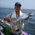 2008.7.21   101cmを釣った大田さん!
