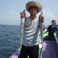 2008.7.21   37匹を釣った松永さん!