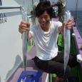 2008.7.21   32匹を釣った上野さん!