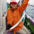 2008.7.31   19匹釣って健闘した山田美保子さん!