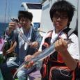 2008.8.15   2人で50匹釣った福田さん親子!