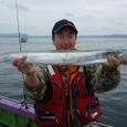 2008.8.24   92cmを釣った谷口さん!