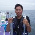 2008.8.27   初挑戦で14匹釣った望月さん!