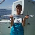 2008.8.31    本日最大を含む16匹を釣った大塚みゆきさん!