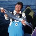 2008.12.23(火) 大型を釣った山本さん!
