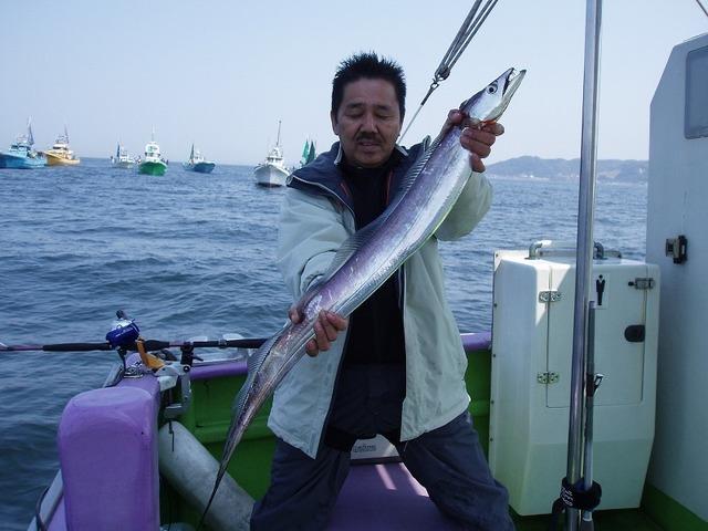 2009.4.13(月) 特大113cmを釣った奥村さん!