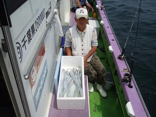 2008.7.5   22匹釣って竿頭の本村さん!