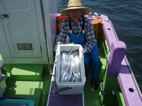 2008.7.22   初挑戦で40匹釣った後藤さん!