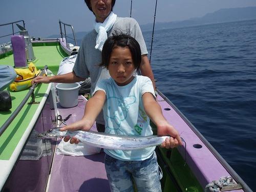 2008.8.4   25匹釣って大健闘のなぎさちゃん!