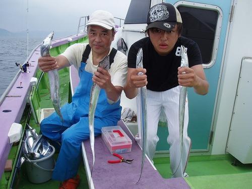 2008.8.5   2人で45匹釣った酒井さん親子!