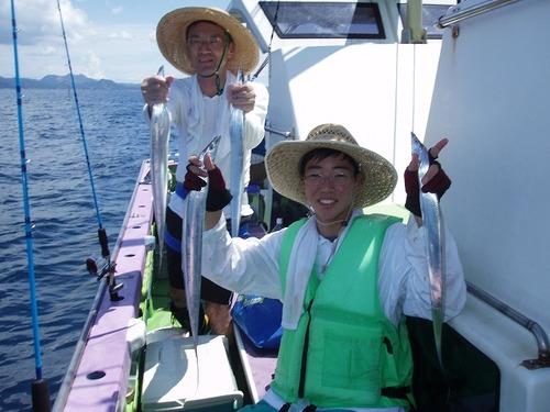 2008.8.6   2人で50匹釣った武下さん親子!