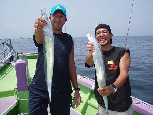 2008.8.11   初挑戦で44匹・白さん! 初挑戦で26匹・田中さん!