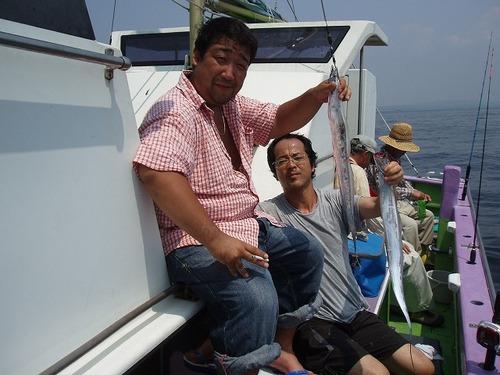 2008.8.11   初挑戦で25匹ずつ釣った今さんと黒川さん!