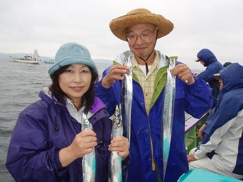 2008.8.17   2人で58匹釣った高橋さん夫妻!