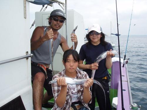2008.8.18   3人で81匹釣った長崎さん家族!