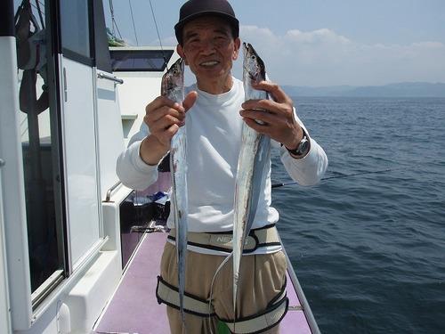2008.8.21   32匹釣った湯本さん!