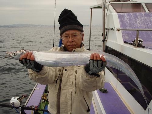 2008.11.9(日) 107cmを釣った友田さん!